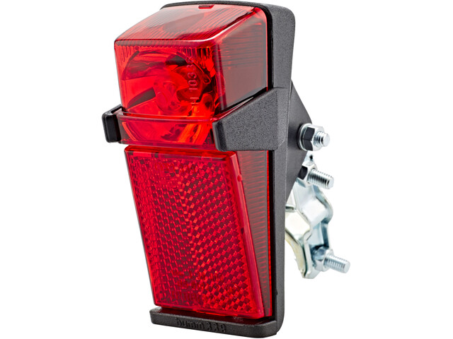 Busch + Müller Rear Light Dynamo Rear Light For Frame Braces black/red